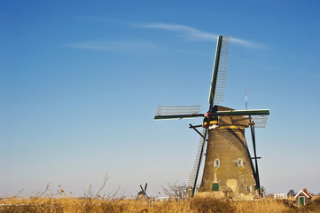 windmill in Kinderdijk, Netherlands