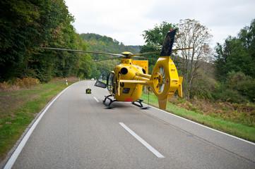 Rettungshubschrauber im Einsatz Notarzt Rettungsdienst