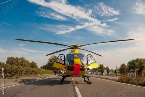 Plexiglas Helicopter Rettungshubschrauber im Einsatz Notarzt Rettungsdienst
