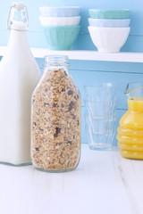 Delicious organic muesli cereal