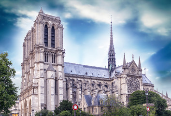 Beautiful view of Notre Dame Cathedral