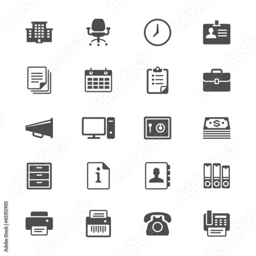 Office supplies flat icons