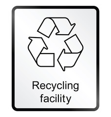 recycling facility public information sign