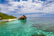 Water villas and beautiful shallow,Maldives