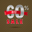 60 percent off, 60 sale discount text- vector EPS10