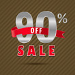90 percent off, 90 sale discount text- vector EPS10
