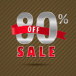 80 percent off, 60 sale discount text- vector EPS10