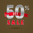 50 percent off, 60 sale discount text- vector EPS10