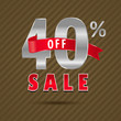 40 percent off, 60 sale discount text- vector EPS10