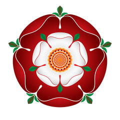 Tudor Dynasty Rose – vector shaded illustration – English Symbol