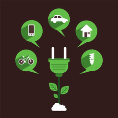 green energy use product design concept vector