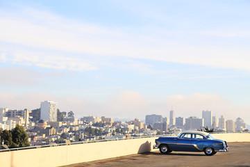 Classic car in San Francisco, CA