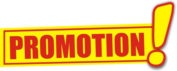 étiquette promotion