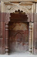 Mihrab in Qutub Minar complex in Delhi.Qutb,unesco heritage