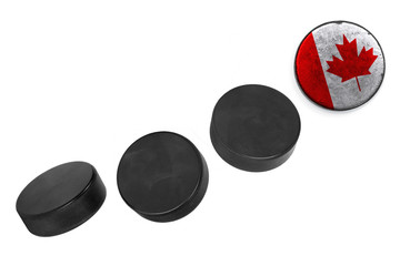 Canadian hockey pucks