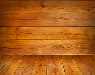 Scene from oak boards.
