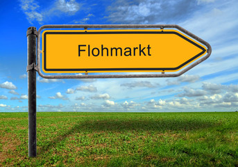 Strassenschild 17 - Flohmarkt