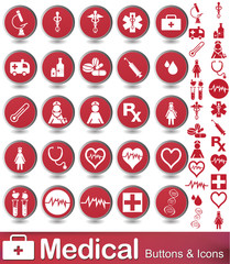 Medical buttons and icons