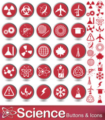 science buttons and icons