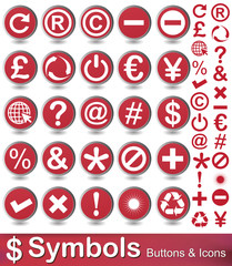 symbols buttons and icons