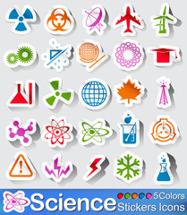 Science stickers icon