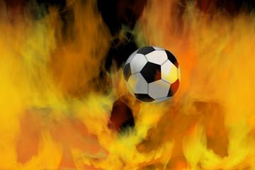 Soccer ball through flames