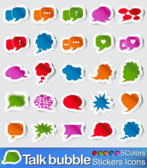 Talk bubble stickers icons