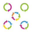 Colorful cycle arrows. Vector illustration. - 65020100