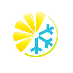 Vector logo lemon, summer drink