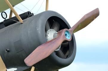 Front of world war one plane with Machine gun