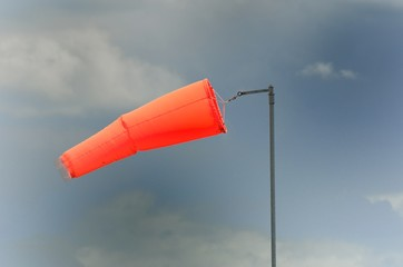 Wind sock with stormy background
