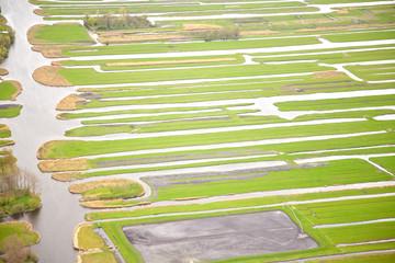 Green landscape with water, Twiske The Netherlands