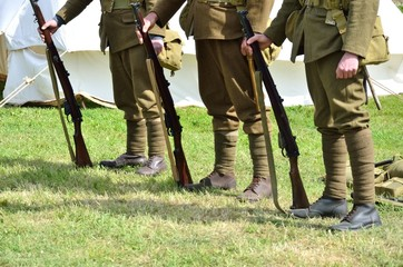Soldiers standing