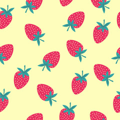 Pattern with a strawberry - Illustration