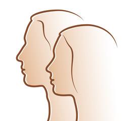 Mann und Frau - Logo