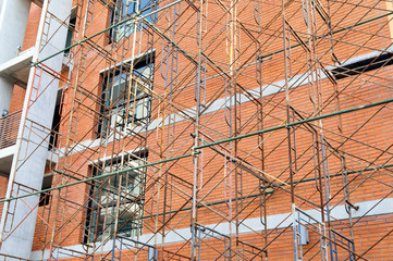 scaffolding for decorate the building