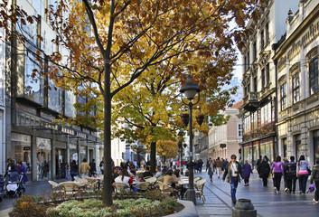 Knez Mihailova street in Belgrade. Serbia