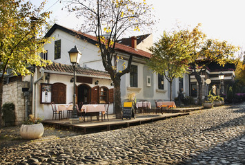 Skadarlija street in Belgrade. Serbia