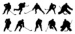 hockey p1 silhouettes - 65023577