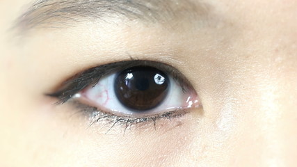 eye in close up
