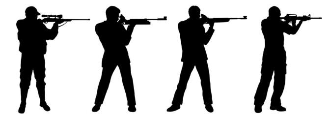 shooting rifle