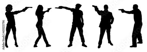 shooting pistol - 65023796