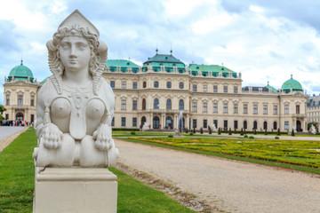 Schloss Museum Belvedere in Wien mit Schlossgarten