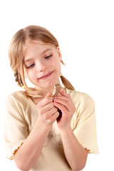 Small girl and the BTE hearing aid