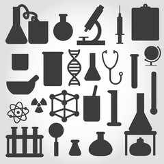 vector science icon set