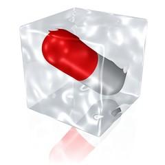 eingefrorenes Medikament