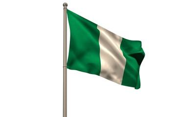 Digitally generated nigeria national flag