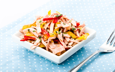style sausage salad