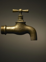 typical brass faucet