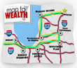 Map to Wealth Financial Advice Saving Making Money Income
